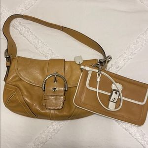 Coach Small Soho Shoulder Tan Leather Hobo Bag
